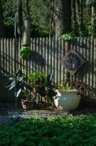 birdfeeder corner in garden 15